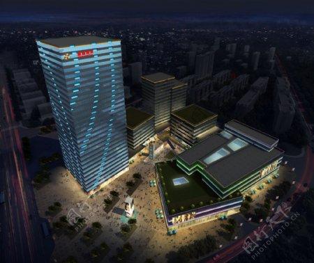 商务广场照明设计图片