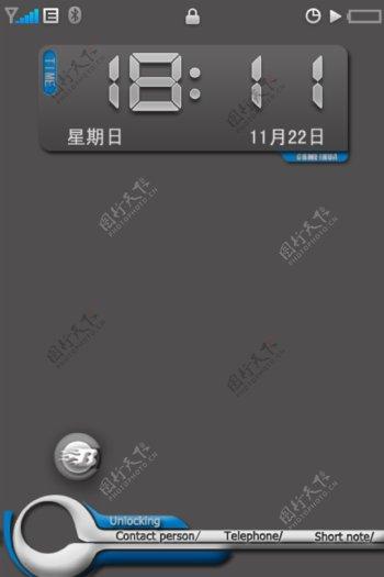 手机解锁界面设计魅族m8图片
