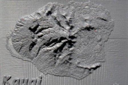 考艾地形图