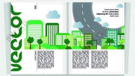 城市背景杂志封面图片
