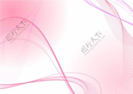 淡粉色的波