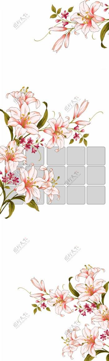线条花移门图片