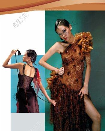 服装设计画册分层图片