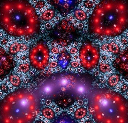 炫光抽象对称图案