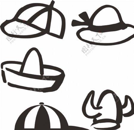 卡通帽子素材图标
