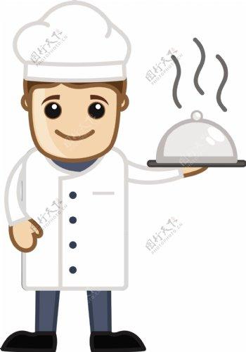 厨师吉祥物卡通商业矢量字符