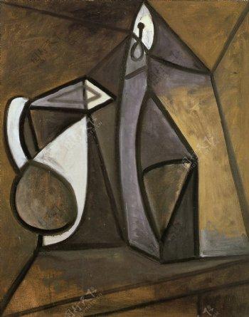 1945Pichetetbougeoir1西班牙画家巴勃罗毕加索抽象油画人物人体油画装饰画