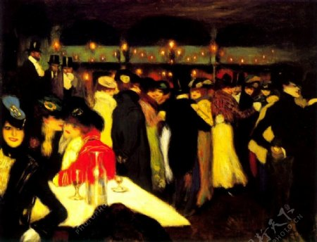 1900Moulindelagalette西班牙画家巴勃罗毕加索抽象油画人物人体油画装饰画