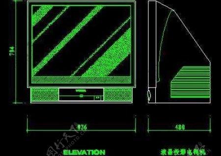 电视机图块视听设备图块影院音响组合图块电脑CAD图块13