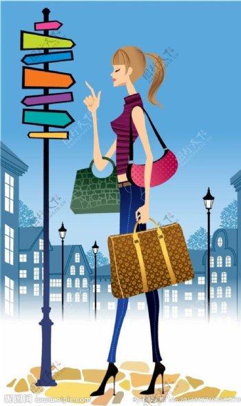 购物女郎图片