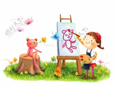 儿童画画图片