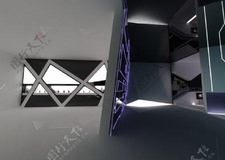 展厅异形墙图片