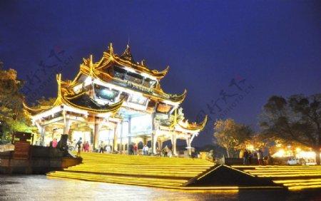 都江堰夜景图片