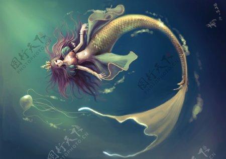 梦幻美人鱼素材图片