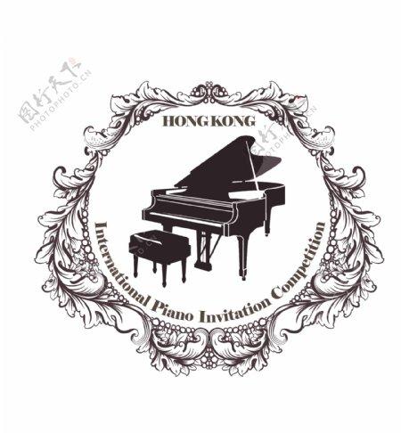 钢琴logopsd图片