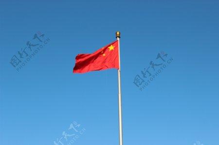 五星红旗蓝天图片