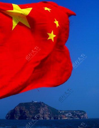 鲜艳的五星红旗图片