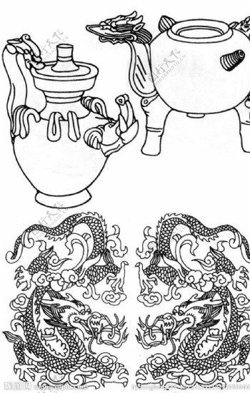 陶瓷龙凤图片