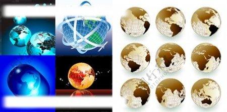 5款地球矢量图片