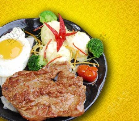 牛排煎排西餐图片