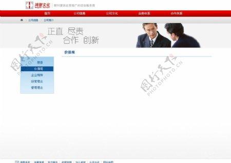 公司网站设计中文模板24图片