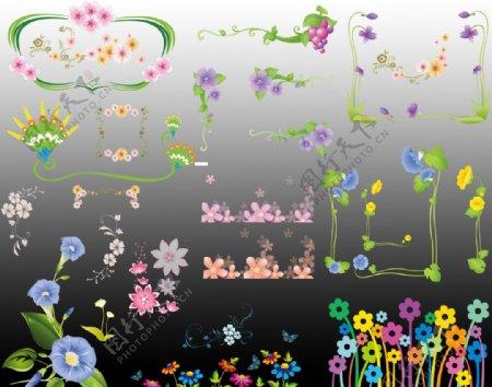 小花边框图片