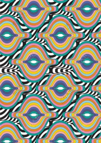 波浪几何图形背景图
