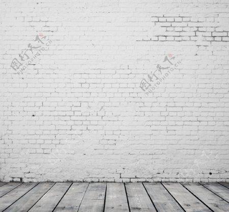 仿砖纹墙纸展台石灰色