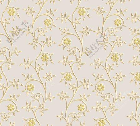 藤蔓欧式花朵墙纸壁纸背景墙