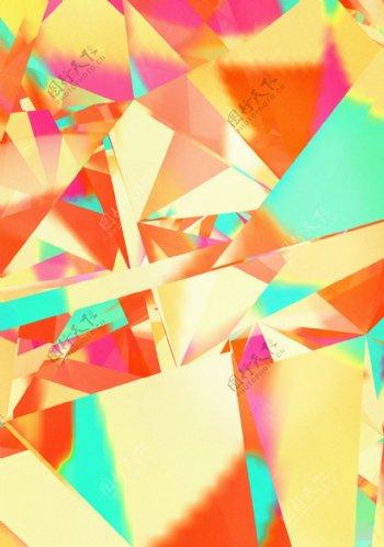 3d炫彩七彩钻石水晶金彩虹酷炫背景贴图