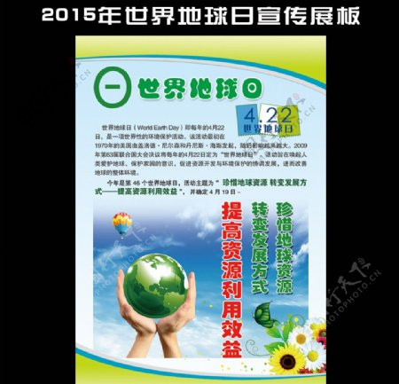2015年世界地球日宣传展板