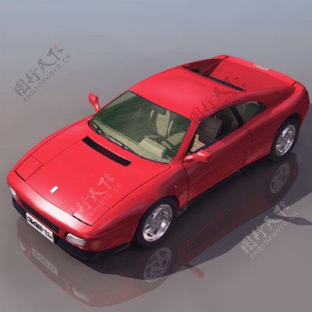 红色豪华轿车图片