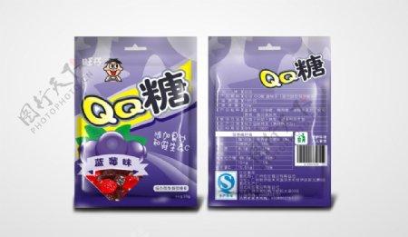 QQ糖蓝莓味原创包装设计