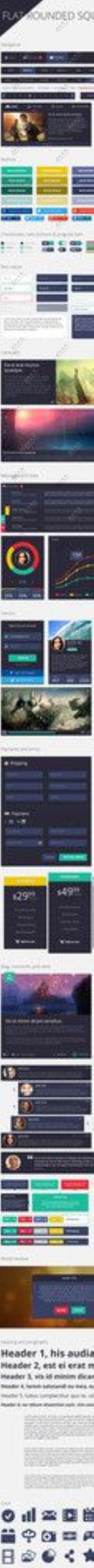 扁平化UI元素界面下图片