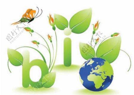 绿色地球矢量图案造型素材
