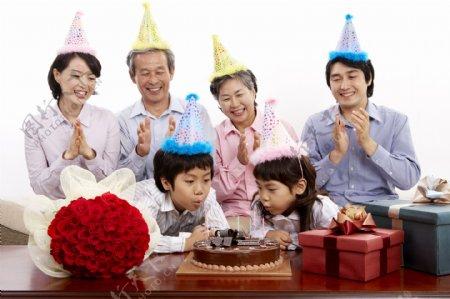 和睦家庭生日宴会图片