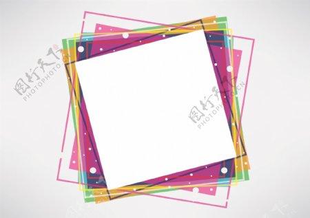 方形图案矢量图素材