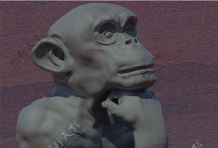 思维的猿3D打印模型