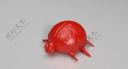 迟钝的瓢虫3D打印模型