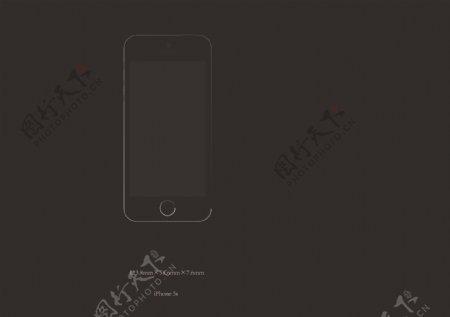 iPhone5s矢量图图片