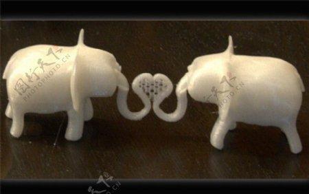 相爱的大象3D打印模型