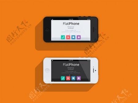 iphone5扁平模版图片