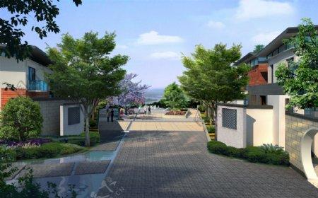 南苑别墅环境设计图片
