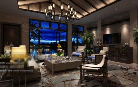 客厅空间3D模型素材