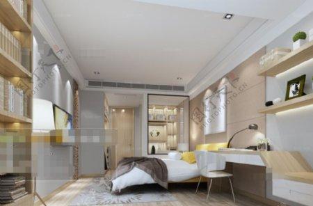 华丽卧室设计3D模型素材免费下载
