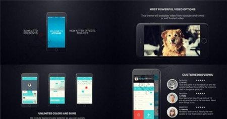 Iphone6应用程序演示AE模板