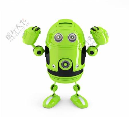 功能强大的Android机器人技术的概念