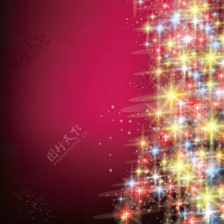 圣诞节炫酷光束背景