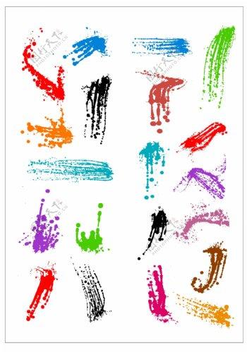 笔刷设计应用背景图案矢量素材AI格式0322