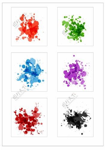 笔刷设计应用背景图案矢量素材AI格式0366